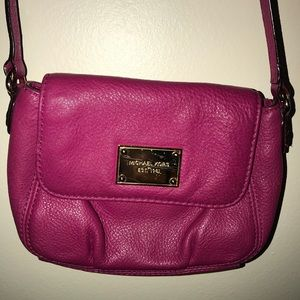 Michael Kors Cross Body Hot Pink Leather Bag